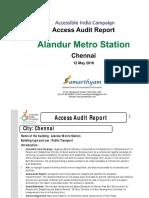 16. Alandur Metro Station  Chennai AIC Access Audit Report