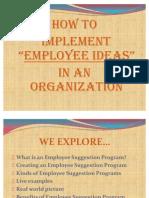 Employee Ideas in Organization