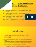 CHAPITRE IV CLASSIFICATION DES STRUCTURES DE CHAUSSEES