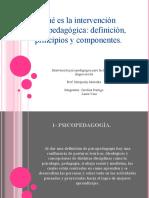 PPT intervención psicopedagogía