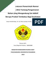 Analisa PP 109 2012 oleh Yosua NP 188020088