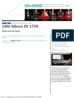 1966 Gibson ES-175D Electric Guitar