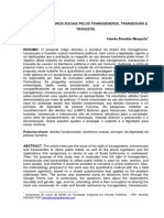 O USO DOS BANHEIROS SOCIAIS PELOS TRANSGÊNEROS, TRANSEXUAIS E TRAVESTIS