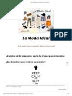 guía de trajes para hombre _ La Moda Ideal
