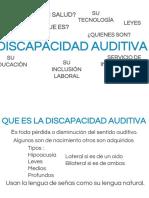 Presentación discapacidad auditiva