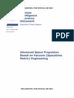Advanced Space Propulsion Based on Vacuum