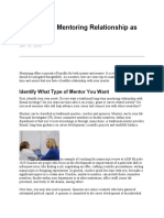 Mastering a Mentoring Relationship as the Mentee