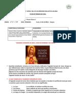 ficha de religion sagrado corazon de jesus