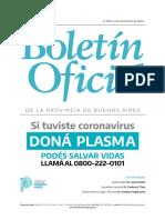 Boletín Oficial N° 28813 del Gobierno de la Provincia de Buenos Aires del 20/07/20