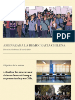 Amenazas a la democracia chilena