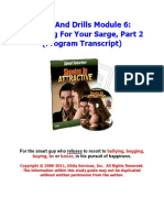 06 - Preparing for Your Sarge- Part 2
