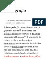Demografia – Wikipédia, a enciclopédia livre
