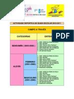 INSCRICIÓN DEPORTE EN IDADE  ESCOLAR 2010-2011