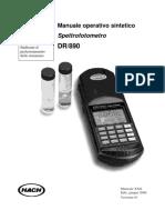 Manuale operativo sintetico Spettrofotometro DR 890