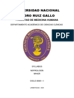 SYLLABO DE NEFROLOGIA EN DESARROLLO