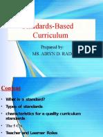 6. STANDARD BASED CURRICULUM