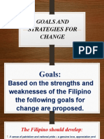 6.1. GOALS AND STRATEGIES FOR A CHANGE