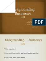 Backgrounding Businesses