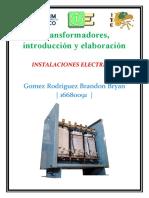 Transformadores, introducción y elaboración