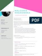 CV of Malgosia Krakowska