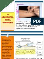 VIA INTRADERMICA CURSO INYECTOLOGIA