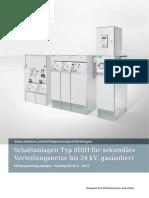Schaltanlagen Typ 8DJH für sekundäre Verteilungsnetze bis 24 kv, gasisoliert