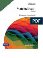 Matemáticas I. Álgebra - René Jiménez - 2ed