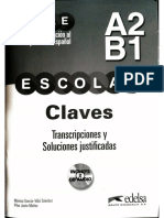 Preparación al DELE Escolar A2-B1 libro de claves, transcripciones y soluciones justificadas