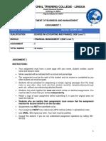 Financial Management 2  Test 1