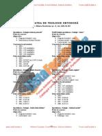 ListaFacultati.ro Subiecte Admitere Universitatea Bucuresti Teologie Ortodoxa 2004