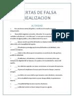 OFERTAS DE FALSA REALIZACION