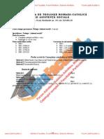 ListaFacultati.ro Subiecte Admitere Universitatea Bucuresti Teologie Romano-Catolica 2004