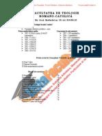 ListaFacultati.ro Subiecte Admitere Universitatea Bucuresti Teologie Romano-Catolica 2007