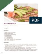Ahi Carpaccio - Cheesecake Factory Recipe