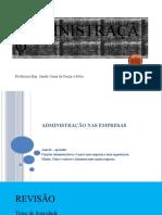 AULA 03- ADMINISTRAÇÃO NAS EMPRESAS - APRENDIZ