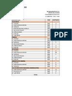 MOBILIARIO Y EQUIPAMIENTO (presupuesto)