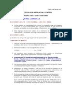 PROTOCOLO DE MONTAJE Y CONTROL  -  KUMHO LAREDO