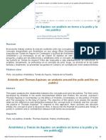 Vista de Aristóteles y Tomás de Aquino_ un análisis en torno a la polis y la res publica _ Revista Filosofía UIS