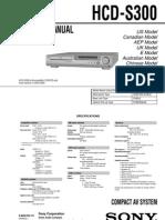 SONY HCD S300 Electrisch Schema