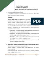 FIN 702 - Case Study (25%)