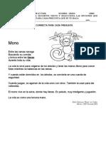 EVALUACIÓN DE COMPRENSIÓN LECTORA  SEGUNDO GRADO  JUNIO   MONO
