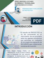 TEMA1 INTRODUCCION A LA PRE Y EVA DE PROYECTOS