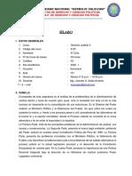 silabo Derecho Judicial II 2020