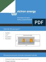 Victron Energy - Présentation Formation - 9. Hybride générateur