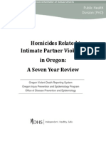 IPV Related Homicides in Oregon 2003 to 2009