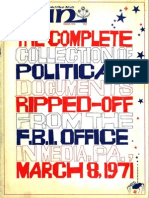 """""""The Complete Collection of Political Documents Ripped-off from the FBI Office in Media, Pa., March 8, 1971,"""" WIN, March 1972"""