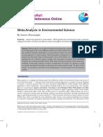 meta analysis in env sci
