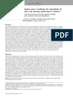 O USO DE TESTES DO DEGRAU PARA AVALIAÇÃO DA CAPACIDADE DE EXERCICIO EM PACIENTES COM DOENÇAS PULMONARES CRONICAS