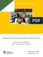Apoyando los procesos de desarrollo