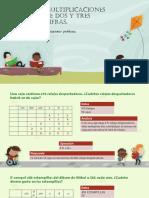 Multiplicaciones de dos y tres cifras - Actividad en clase